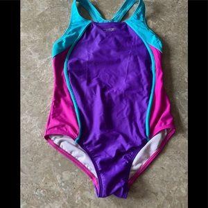 Speedo girls swimsuit size 12